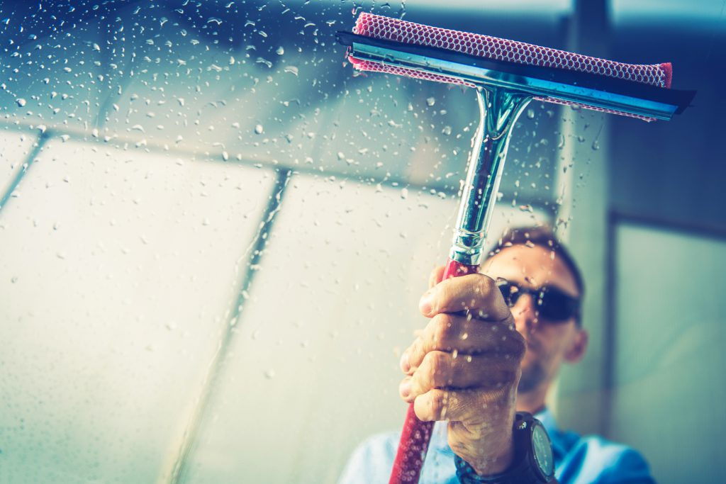 Car Window Cleaning